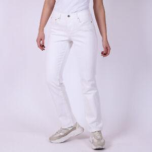 Levi-039-s-505-Straight-Leg-Weiss-Damen-Jeans-Groesse-34-27-32-W27-L32