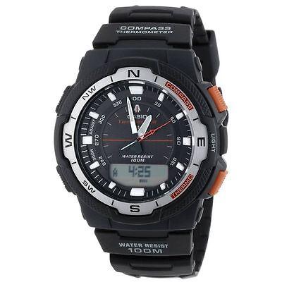 Casio Pre-owned SGW-500H-1B Twin Sensor Digital Sports Watch Compass SGW-500