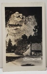 Mt-Rushmore-Memorial-Verne-039-s-Photo-RPPC-1942-Idaho-to-Canada-Postcard-C8