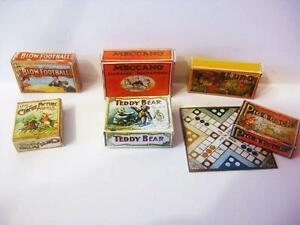 vintage  STYLE TOY BOXES   DOLLS HOUSE set 1