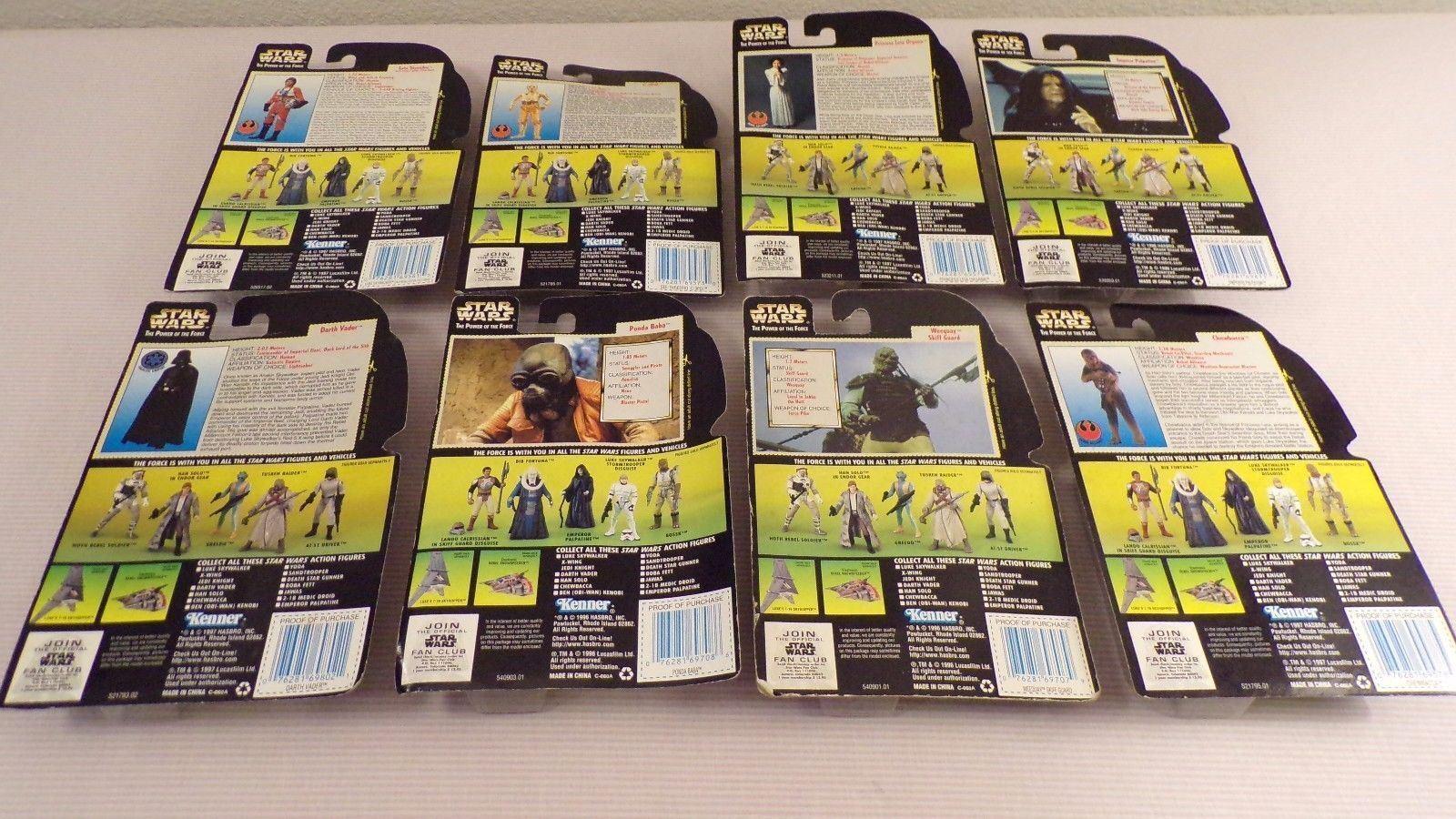 Star Wars Power of the Force 9 Hologram Luke Luke Luke Vader Leia Emperor Ponda b7dad9