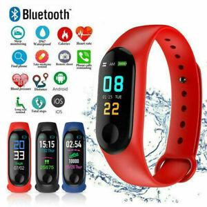 M3X Smart Watch Sport Fitness Armband Herzfrequenz Blutdruckmessgerät Re Neu