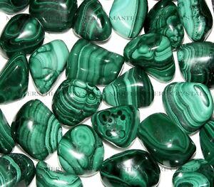 12-x-Malachite-Tumblestones-Crystal-18mm-22mm-Wholesale-Bulk
