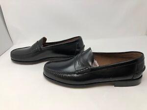 d094971705b Mens Florsheim Berkley Moc Toe Penny Loafer Shoes Black Size 12 Wide ...