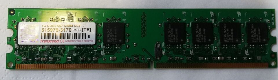 Transcend , 1 GB, DDR2 SDRAM