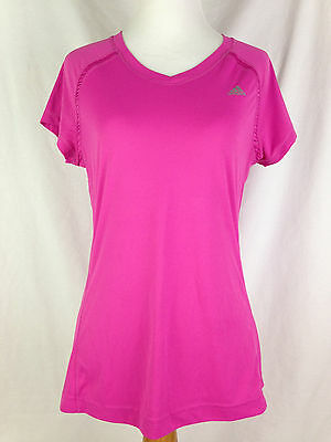 Adidas Womens Fitness Shirt M Size Climalite Pink Athletic Yoga Workout Tops