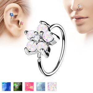 Opal-CZ-Flower-Ear-Helix-Tragus-Rook-Snug-Daith-Hoop-Nose-Rings-Piercing-20G