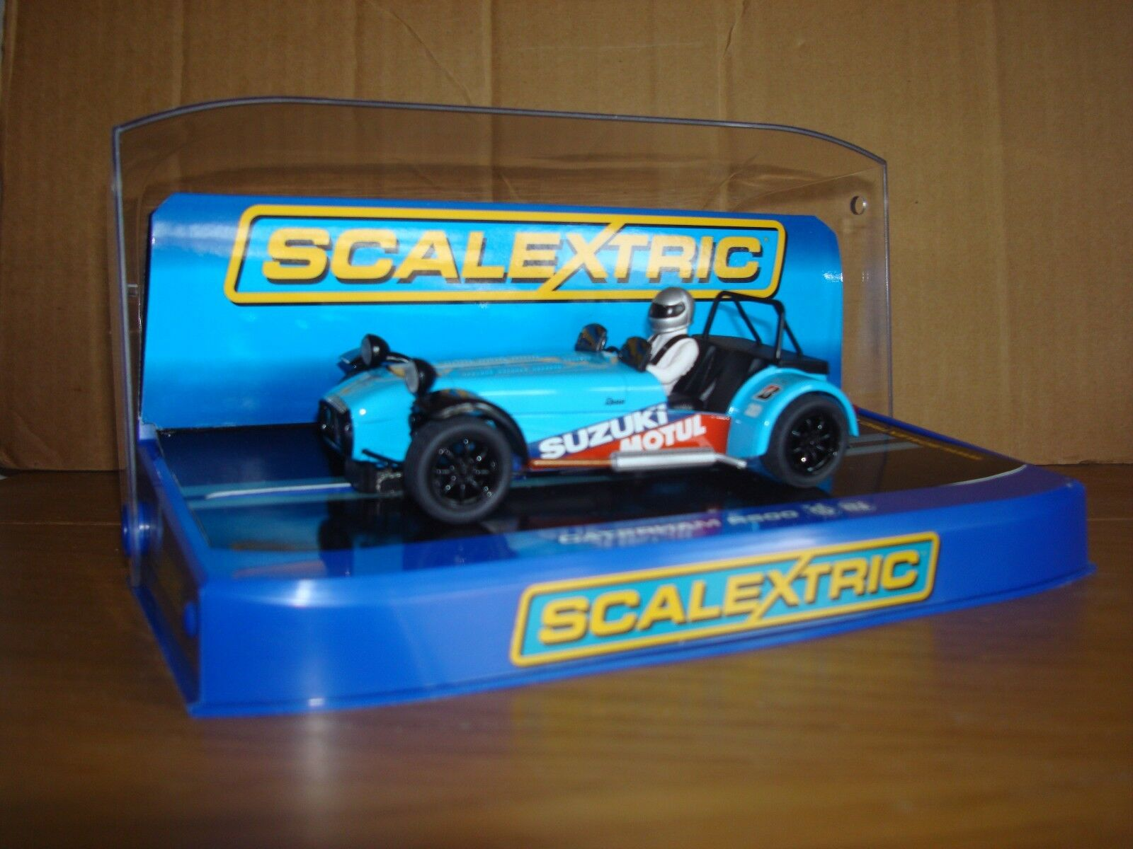 SCALEXTRIC C3133 CATERHAM R500 blueE CAR - MINT, BOXED CONDITION
