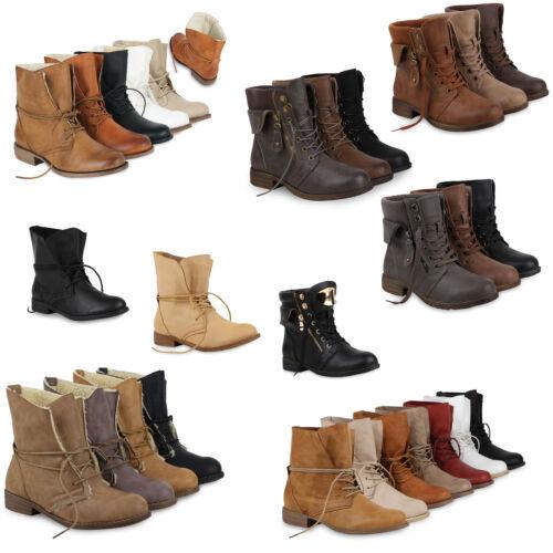 Damen Worker Boots Stiefeletten für Herbst /& Winter 890464 Schuhe