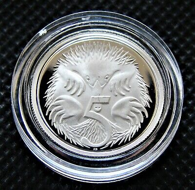 1991 SILVER Proof 1 Cent Feather-Tailed Glider Australia ex Masterpieces in Set