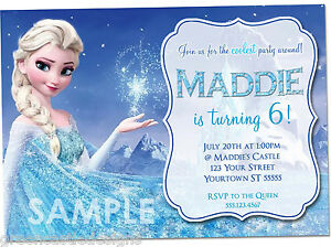 Disney-Frozen-Birthday-Invitations-PRINTED-Birthday-Party-Invites-amp-Envelopes
