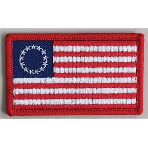 PATRIOTIC USA FLAG JACKET PATCH OLD GLORY BETSY ROSS FLAG 13 STARS STRIPES 62Z3