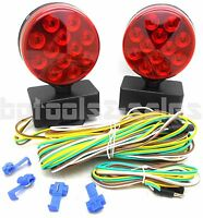 24 Led 12v Magnetic Towing Light Kit Multi Function Dot Trailer Rv Boat Camper