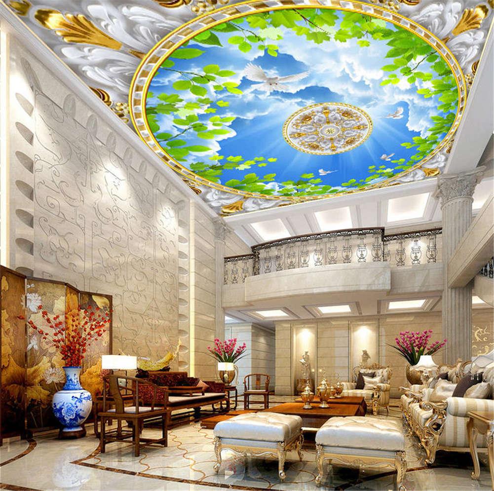 Friendly Rich Earth 3D Ceiling Mural Full Wall Photo Wallpaper Print Home Decor