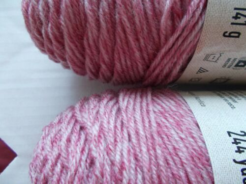 244 yds ea Cranberry Loops /& Threads Shabby Boheme yarn lot of 2