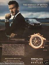 PUBLICITÉ 2013 BREITLING FOR BENTLEY DAVID BECKHAM - ADVERTISING