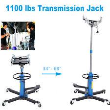 1100lbs Transmission Jack 2 Stage Hydraulic 360 Swivel Wheels For Car Lift