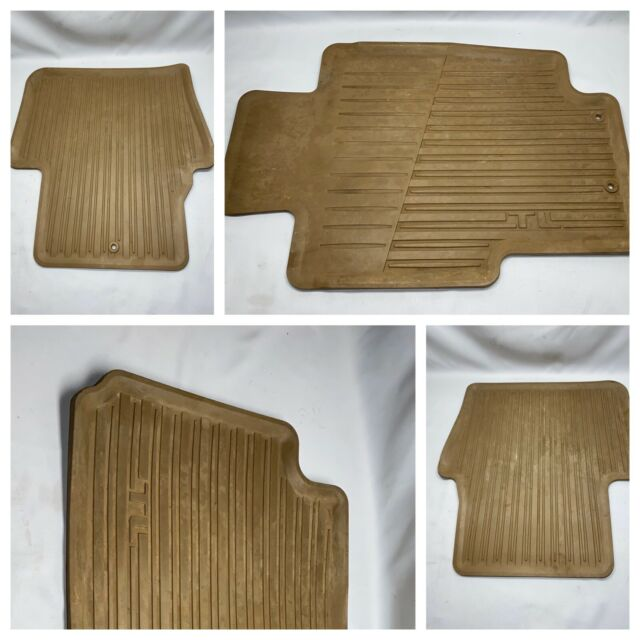 Acura TL All Weather Floor Mats Rubber Cream Tan 2004 2005