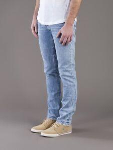 Nudie-Herren-Slim-Fit-Used-Look-Jeans-Hose-Grim-Tim-Ocean-Wave