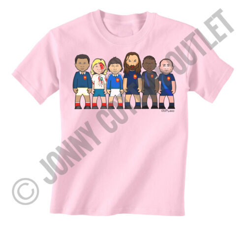 VIPwees Childrens Kids Unisex T-Shirt Boys and Girls Rugby Legends 6//Tri Nations