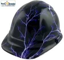 Lightning Storm Hydro Dipped Cap Style Hard Hat With Ratchet Suspension