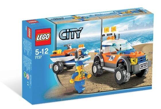 NEW Lego City COAST GUARD 4WD & JET SCOOTER 7737