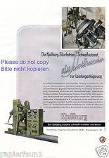 Kjellberg Schweißautomat XL Reklame von 1943 ! Finsterwalde Werbung schweissen +