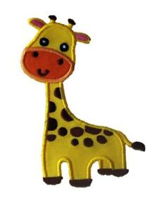 Giraffe-Animal-Embroidered-Iron-Sew-On-Patch-Badge-Applique-Motif