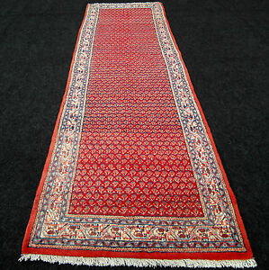 Orient-Teppich-Laeufer-270-x-82-cm-Perserteppich-Mir-Muster-Rot-Red-Carpet-Runner