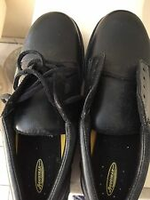 men's oxford work shoe black SLIP RESISTANT no-skid casual shoes safeetrax 8 1/2