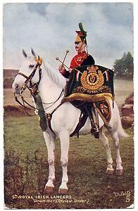 CPA-Militaria-TUCK-and-son-034-Oilette-034-9367-5th-Royal-Irish-Lancers-Drummer