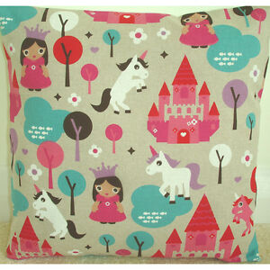 16034 Cushion Cover Princess Castle Unicorn Pink Turquoise GIrl039s Bedroom Playroom - Coventry, United Kingdom - 16034 Cushion Cover Princess Castle Unicorn Pink Turquoise GIrl039s Bedroom Playroom - Coventry, United Kingdom