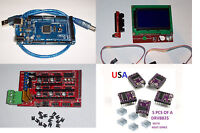 Mega2560,ramps1.4,3d Printer Board&5pcs Drv8825 & Lcd12864 Smart Display Usa