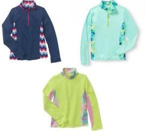 Danskin-Now-Girls-Performance-Quarter-Zip-Pullover-1-4-Zip-Fleece-size-XS-Small