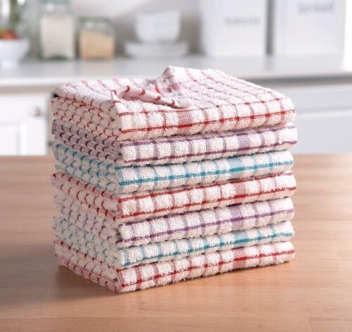 6 Pack de 3 9,12 torchons 100/% Coton Cuisine lavettes Nettoyage Séchage