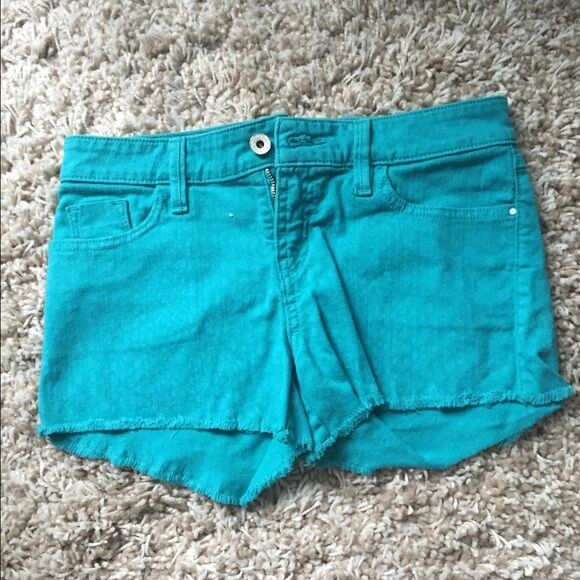 Women's Teal Guess Shorts Size 27