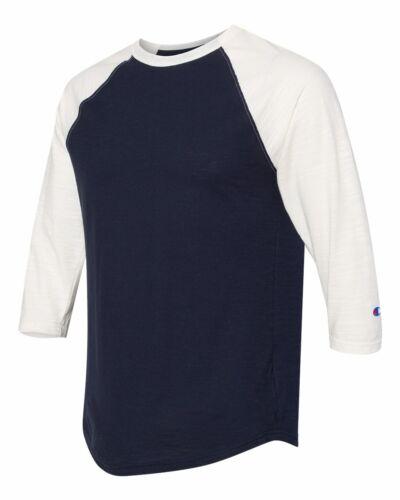 Champion Premium Fashion Baseball T Shirt Mens Cotton Tee Athletic Raglan CP75