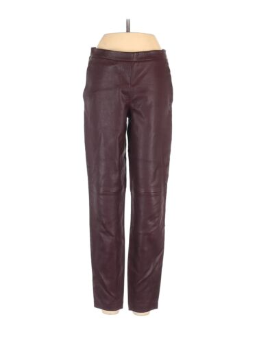 Theory Women Red Leather Pants 00
