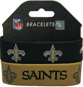 Image Is Loading New Orleans Saints Silicone Wrist Bands Bracelets