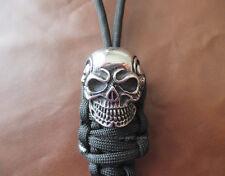 Paracord Lanyard mit Skull - Schlüsselanhänger Taschenmesser Tactical Ziehhilfe