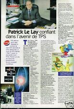 Coupure de presse  Clipping 1997 (1 page) Patrick Le Lay