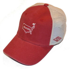 2018 MASTERS 1934 Collection MESH BACK (RED IVORY) TRUCKER Style ... bbfbc428c87