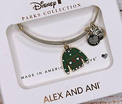 Disney Parks Alex And Ani Green Ugly Christmas Sweater 2019 Holidays Bracelet