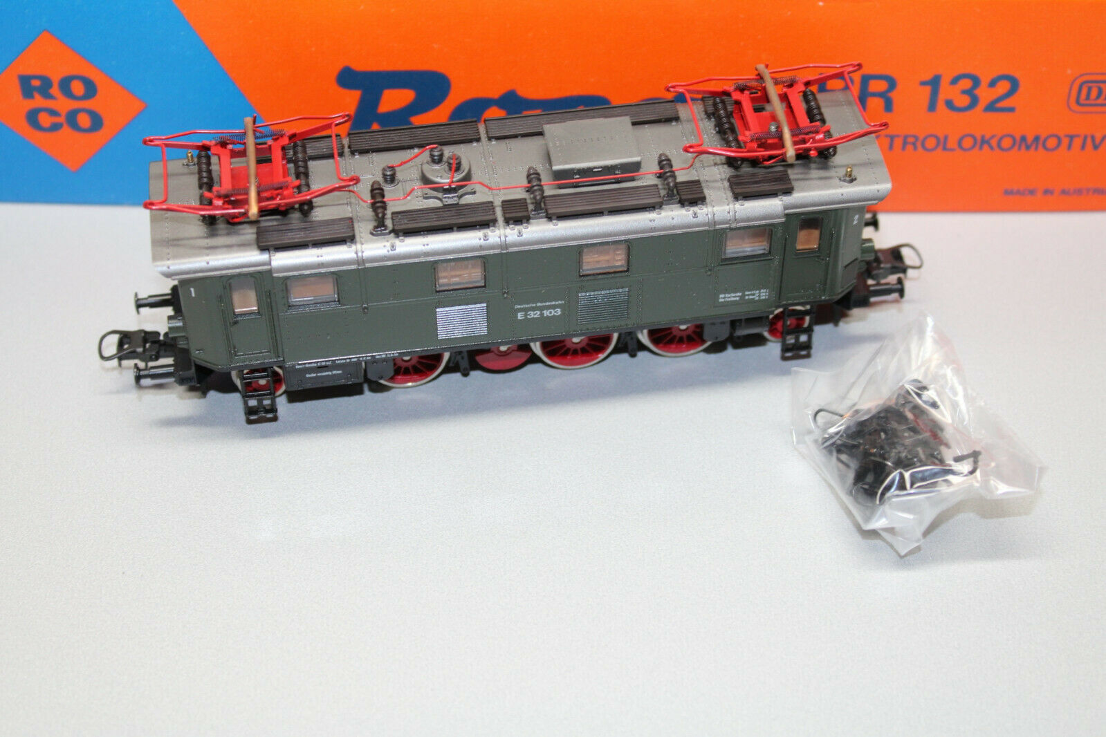 ROCO 43441 elok serie siano e32 103 DB verde traccia h0 OVP
