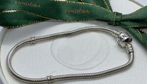 Genuine Pandora 20cm Classic Sterling Silver Charm Bracelet 925 ALE 590702HV