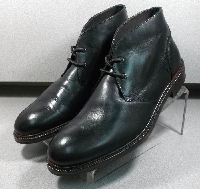 208965 SPBT50 Men's Boots Size 9 M Black Leather Lace Up Johnston & Murphy