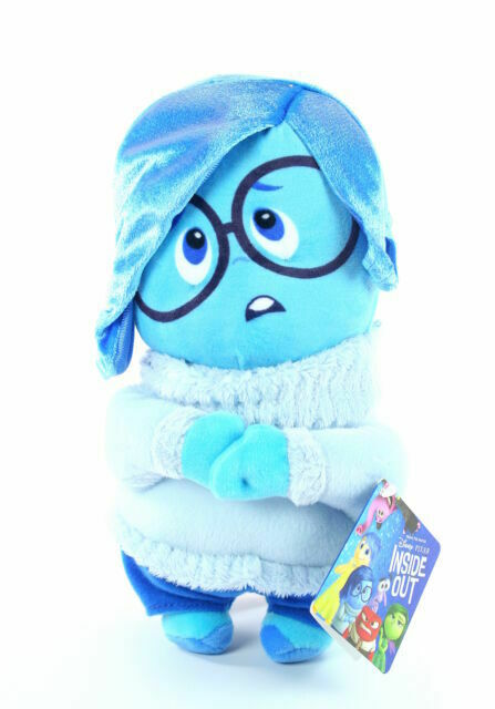 Disney Inside Out Sadness 15 2 in 1 Plush//Plush Backpack