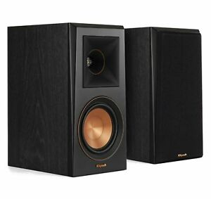 Klipsch RP-500M Ebony Vinyl (Pr) Bookshelf Speakers (Certified Refurbished)