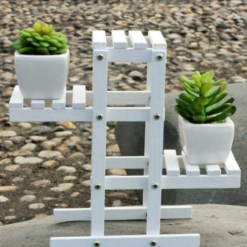 Plant Stand Flower Pot Tiered Shelf Bonsai Display Wooden Storage Rack Holder