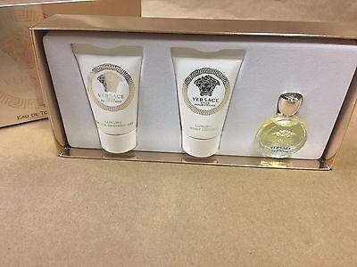 NEW Versace Eros Pour Femme 3 Piece Gift Set Perfume,Shower Gel, Body Lotion